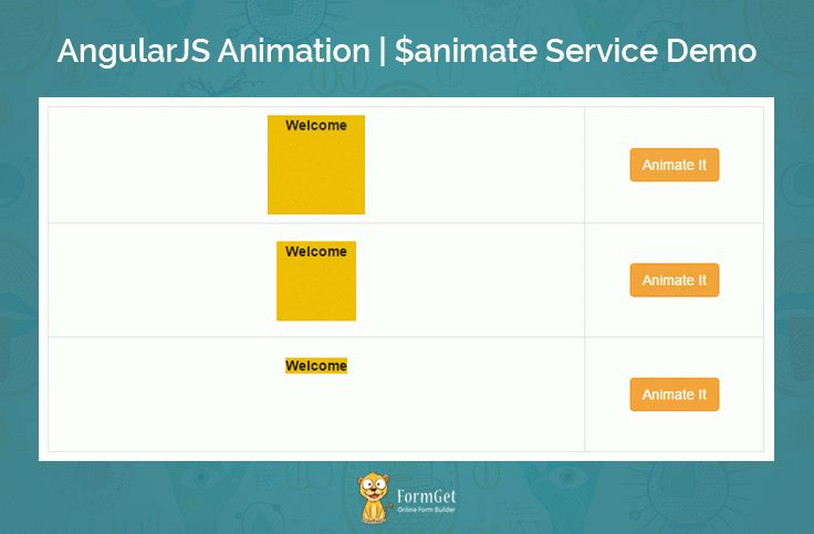 AngularJS $animate : Tutorial With Animation Example | FormGet