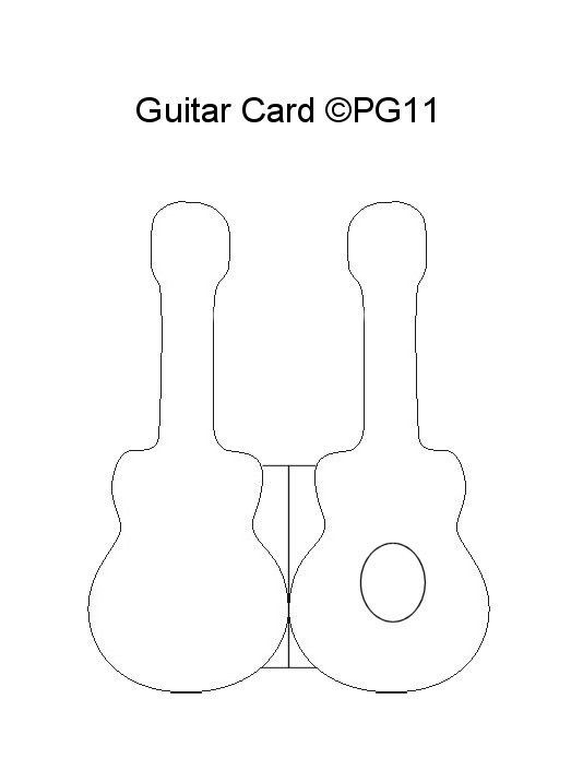 Guitar card template I made | Paper Craft Themed Card Templates ...