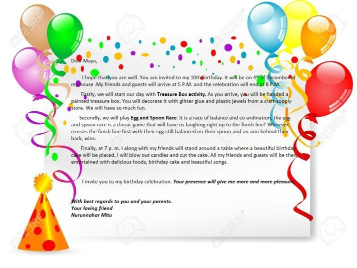 Birthday Party Invitation Letter | English For Life