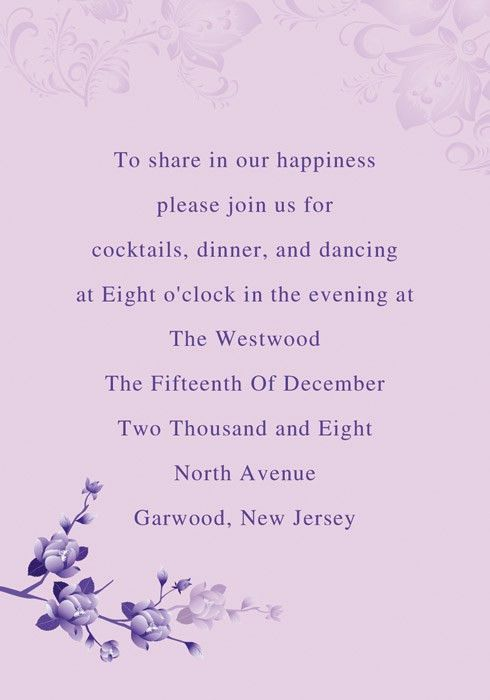 Purple Heaven Wedding Invitations [INW027] [INW027] - $0.00 ...