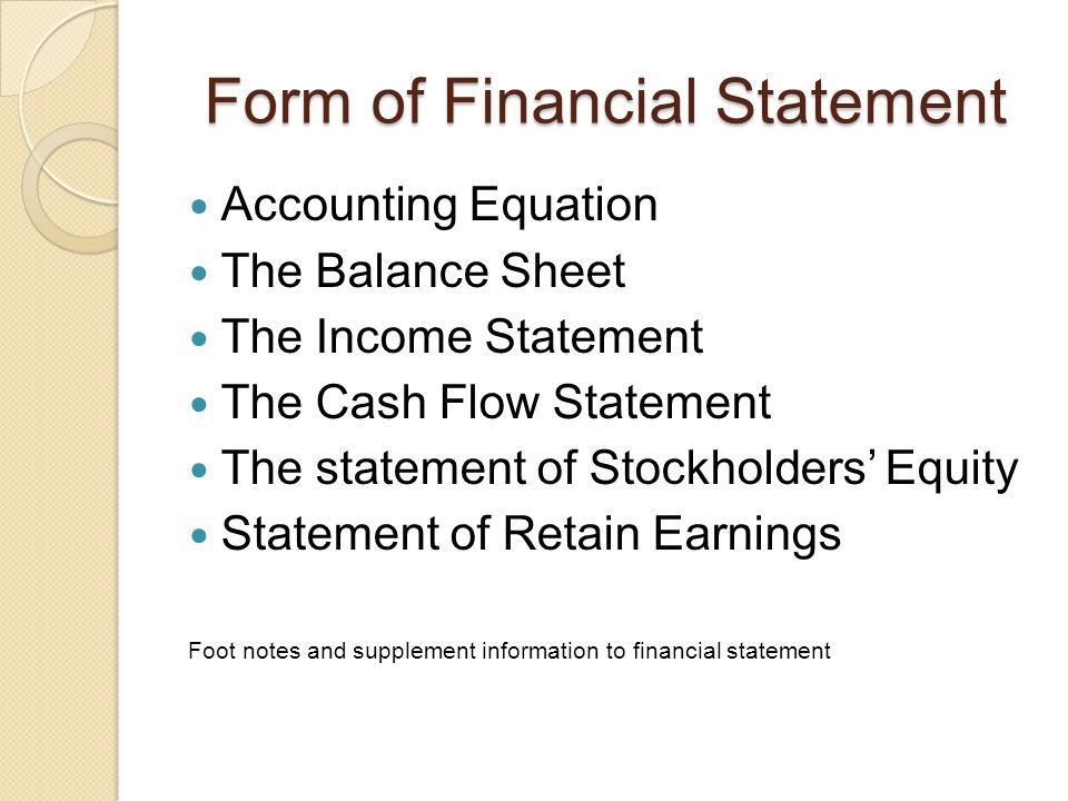 Introduction to Financial Statement - ppt download