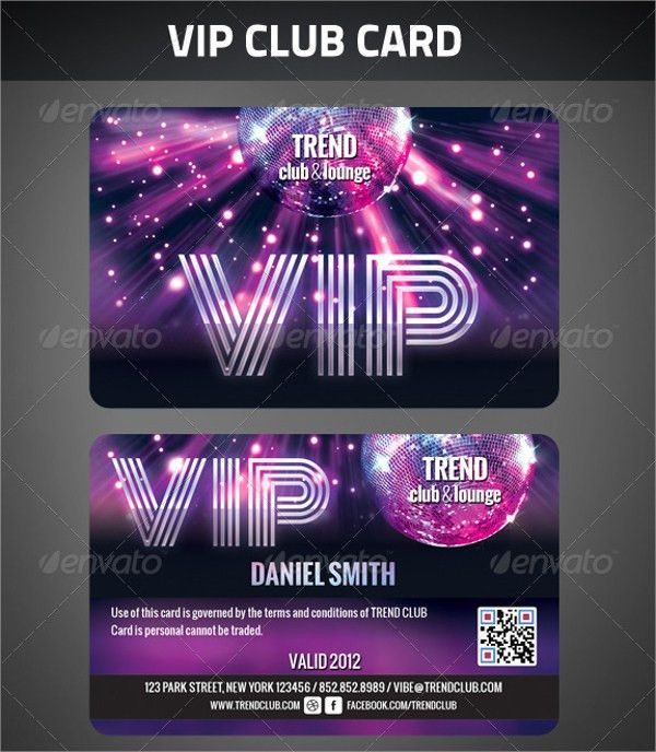 11+ Sample Membership Cards - PSD, Vector EPS