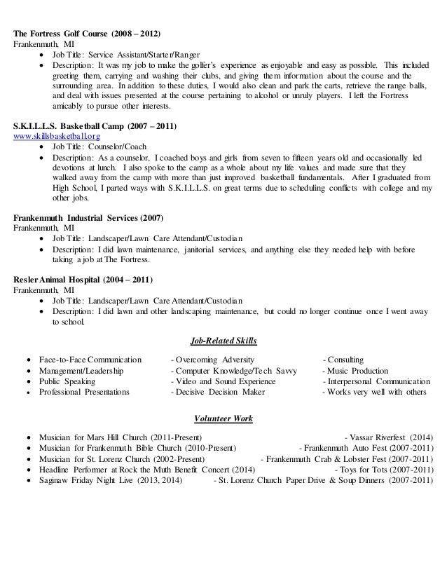 park ranger resume park ranger resume sample