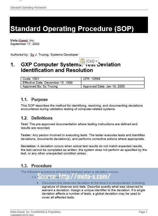 40 Professional Standard Operating Procedures Templates in Word ...