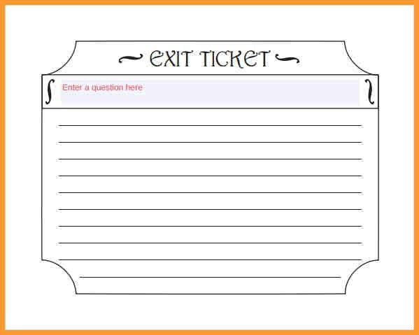 EXIT TICKET IDEAS | letter format mail