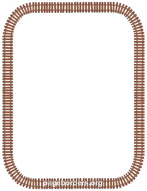 Printable train track border. Use the border in Microsoft Word or ...