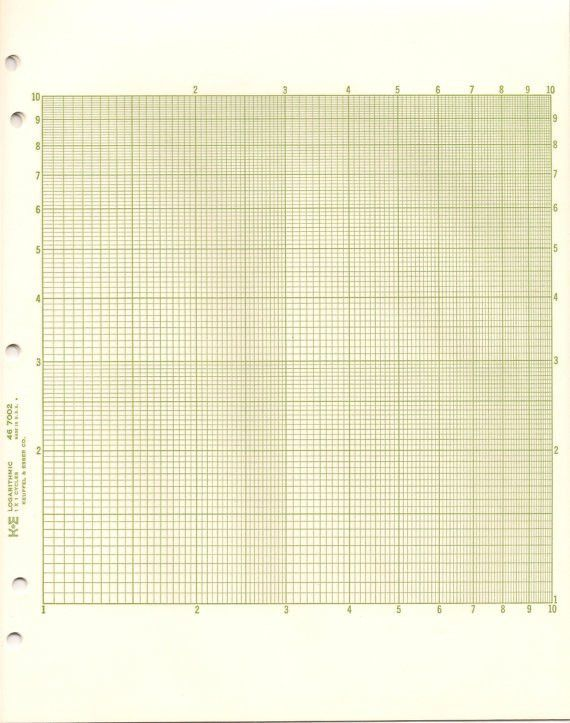 Log Graph Paper Template Graph Paper Printable Math Graph Paper