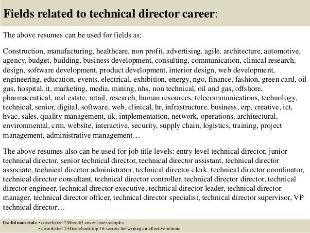 Top 5 technical director cover letter samples