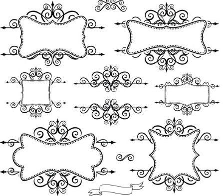 Borders Designs Easy: Ornamental border design ornaments vector ...