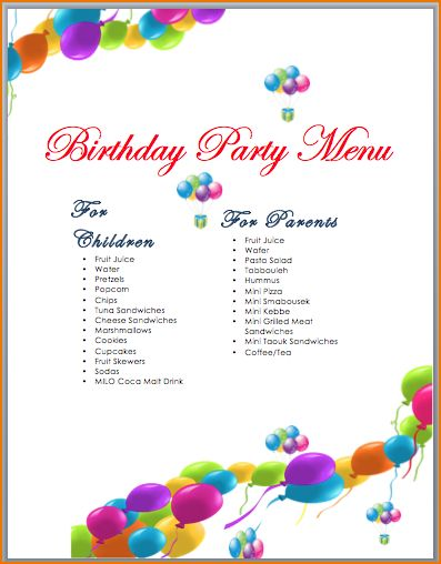 5+ party templates | teknoswitch