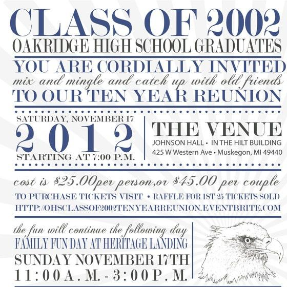 OHS Class of 2002 Ten Year Reunion, Online Invitations & Cards by ...