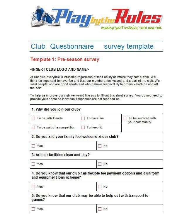 30+ Questionnaire Templates (Word) - Template Lab