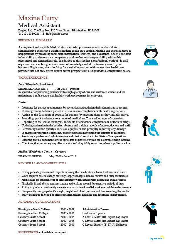 Medical Assistant resume samples, template, examples, CV, cover ...