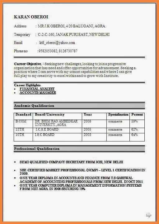 best resume format fresher free download make resume. mba resume ...