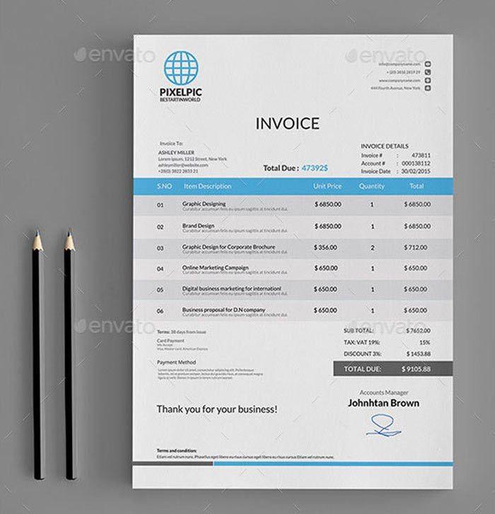 Download Sales Invoice Template Psd | rabitah.net