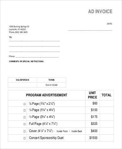 Sample Sales Invoice - 9+ Examples in Word, PDF