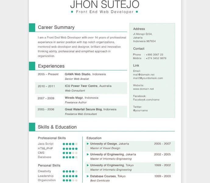 Stylist And Luxury Awesome Resume Templates 7 28 Free CV HTML PSD ...