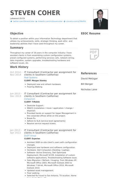 it consultant resume samples visualcv resume samples database - Consulting Resume Examples