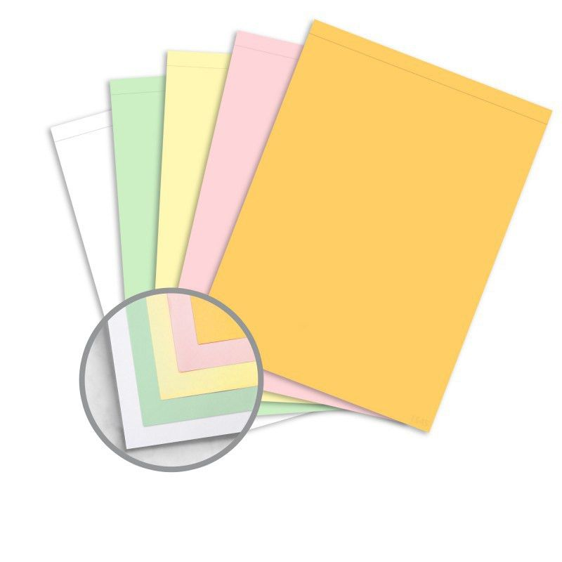 Multi-Colored Carbonless Paper - 8 1/2 x 11 1/2 in 21.4 lb Writing ...