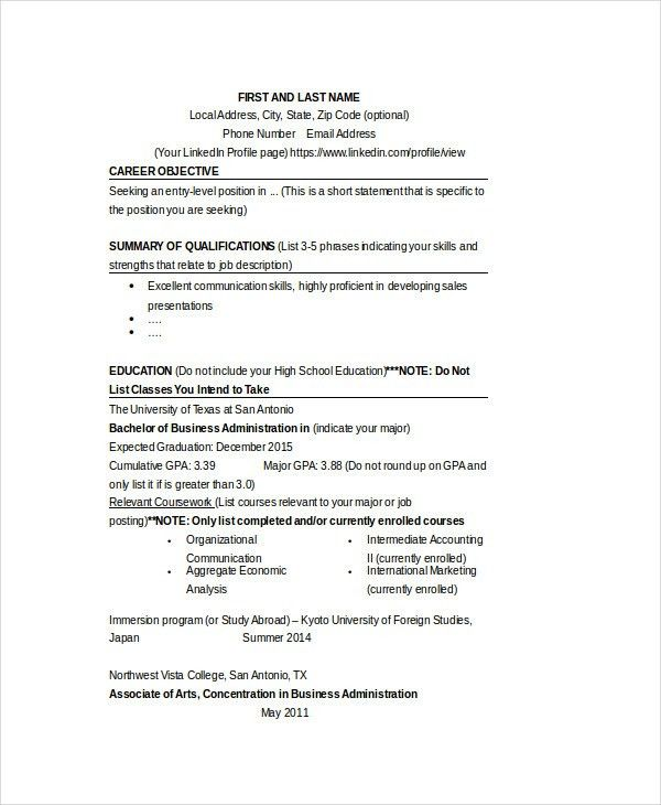 Stanford Resume Template [Template.billybullock.us ]