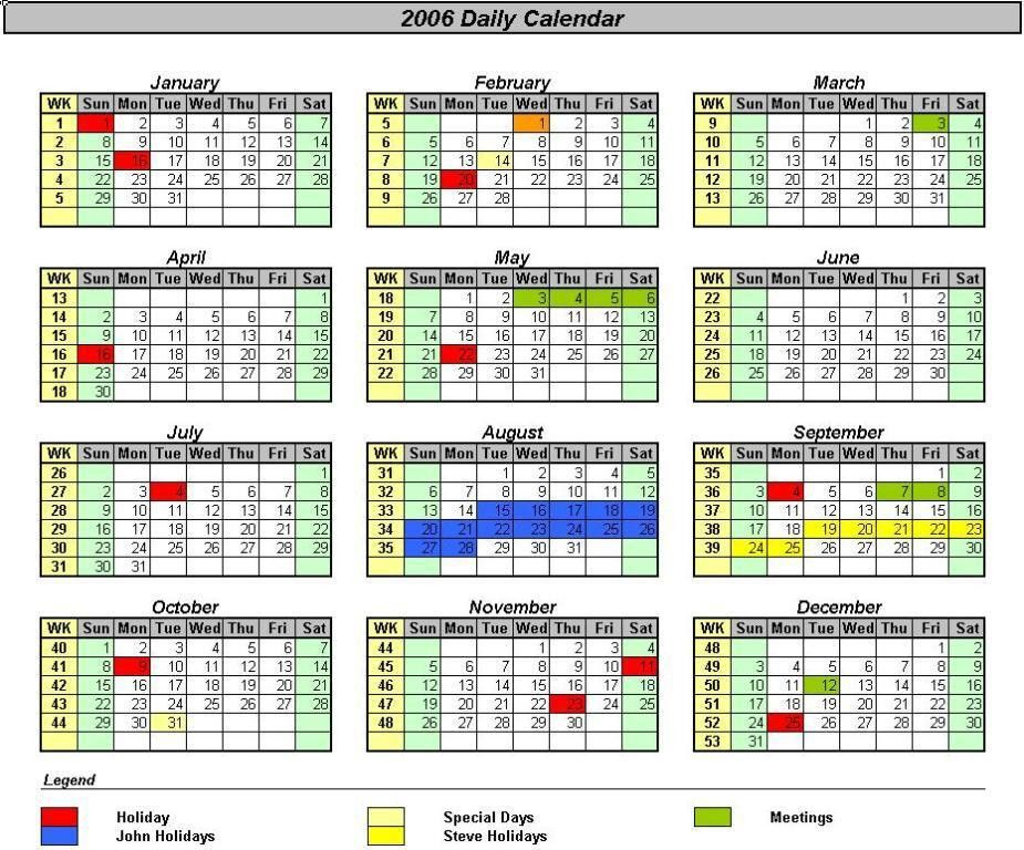 OfficeHelp - template (00031) - Calendar Templates 2005 / 2010 ...