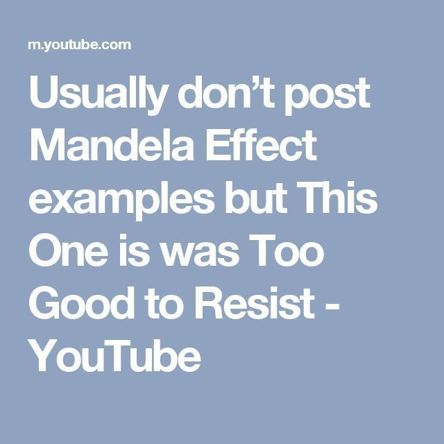 Best 25+ Mandela effect examples ideas on Pinterest | Mandela ...