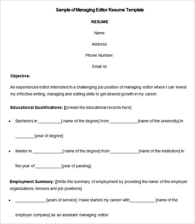 Professional Resume Template – 52+ Free Samples, Examples, Format ...