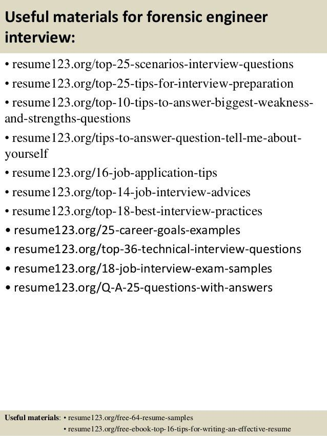 Download Forensic Engineer Sample Resume | haadyaooverbayresort.com