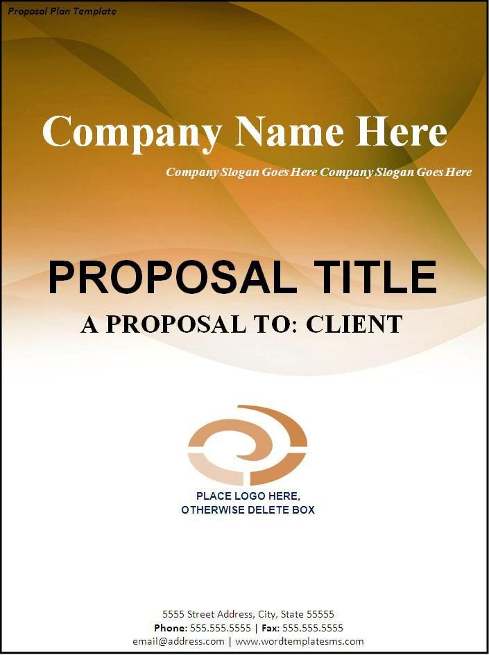 Proposal Plan Template Download Page | Word Excel Formats