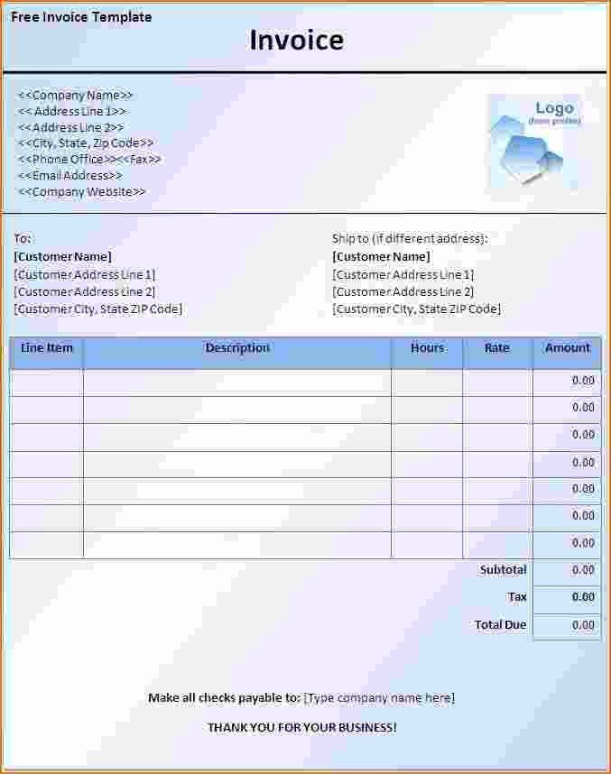 3+ free invoice template word | Printable Receipt