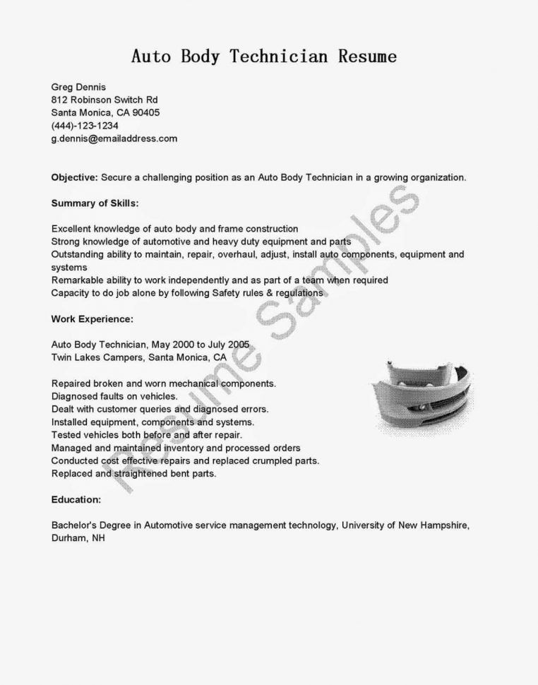 Automotive Technician Resume Examples [Template.billybullock.us ]