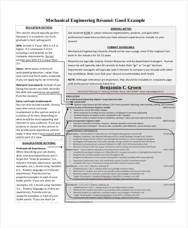 9+ Engineering Resumes - Free Sample, Example, Format | Free ...