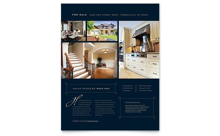 Luxury Home Real Estate Flyer Template Design
