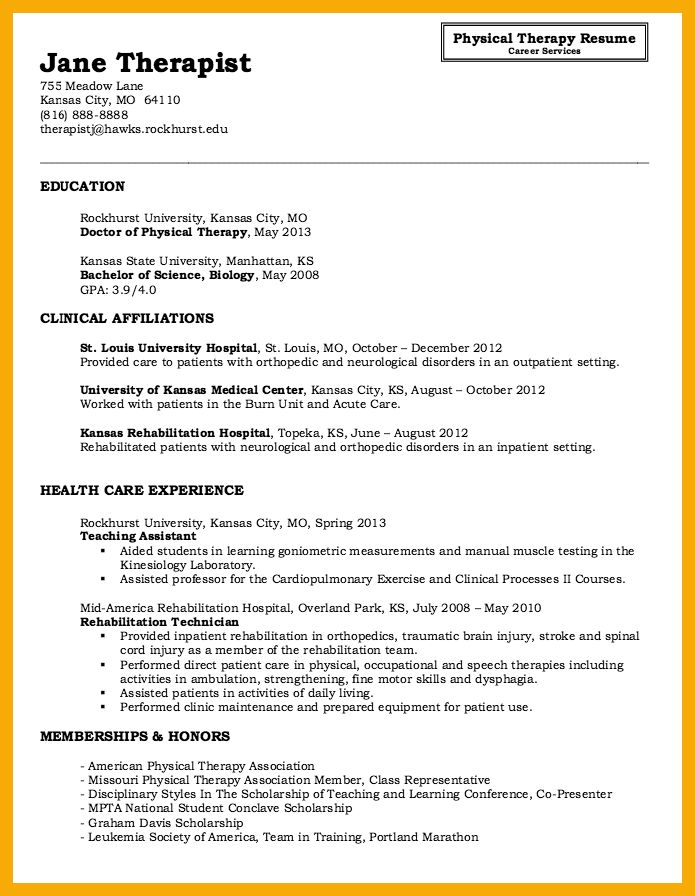Occupational Therapist Resume Template. pediatric occupational ...