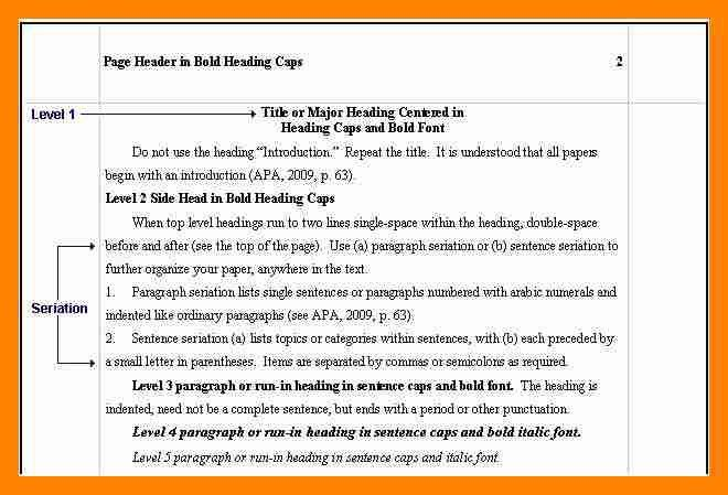 7+ apa headings examples | resume sections