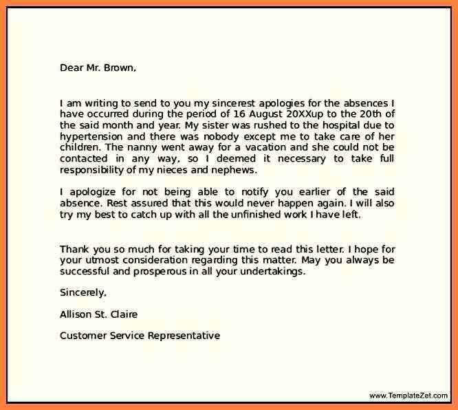 3+ professional apology letter for misunderstanding | Life ...