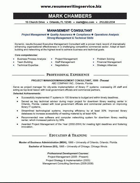 management consultant resume sample 8 best best consultant resume