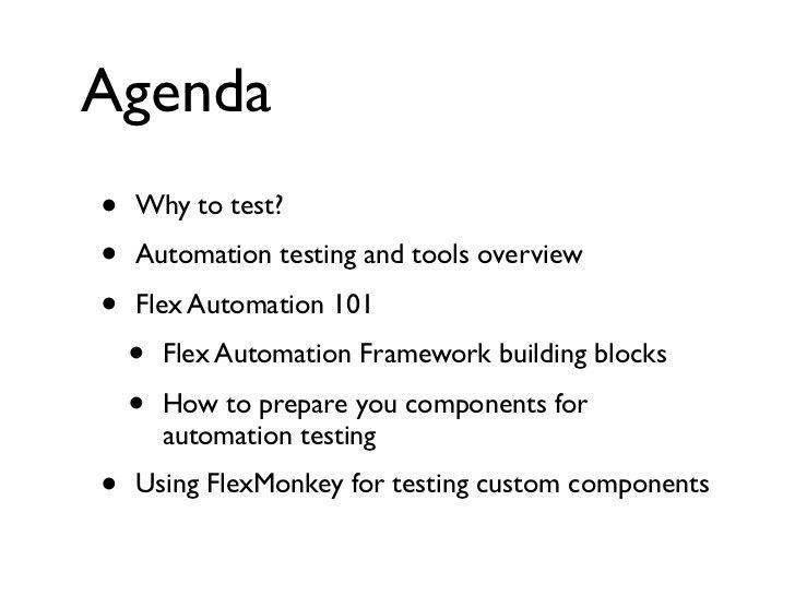 Testing Flex RIAs for NJ Flex user group