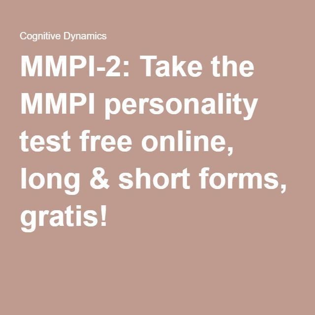 MMPI-2: Take the MMPI personality test free online, long & short ...