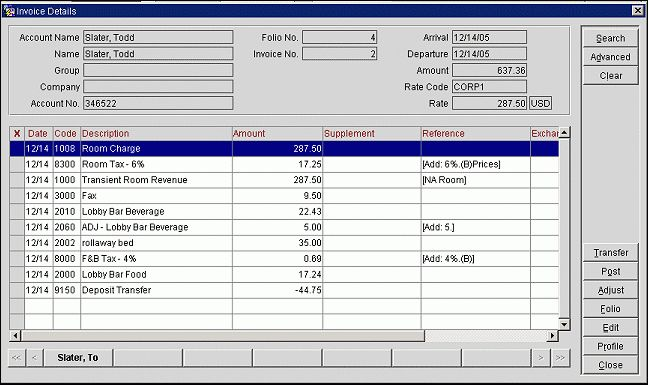 View Invoices and Manage Invoice Details