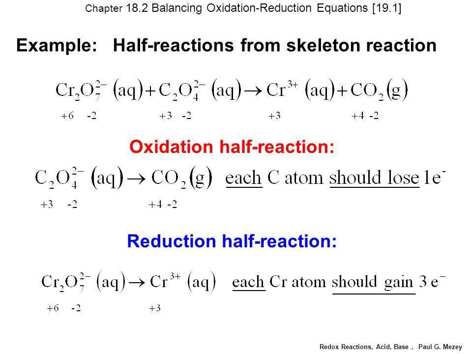 Redox Reactions, Acid, Base, Paul G. Mezey - ppt video online download