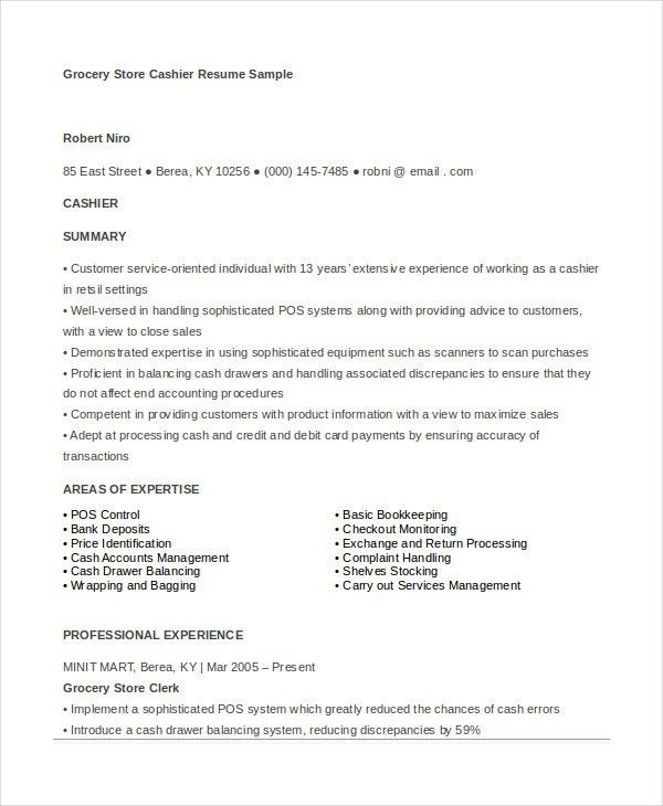 gas station clerk resume - Doritmercatodos