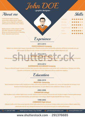 Blue Arrow Cv Resume Curriculum Vitae Stock Vector 291376685 ...