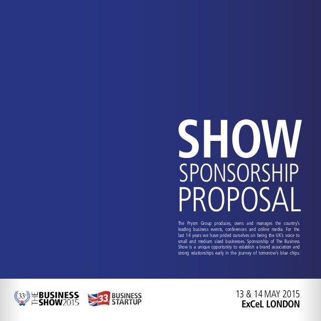 Show Sponsorship Proposal May 2015