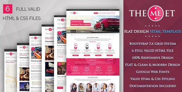 Themeet - Responsive Html Blog Template by ismailfidan | ThemeForest