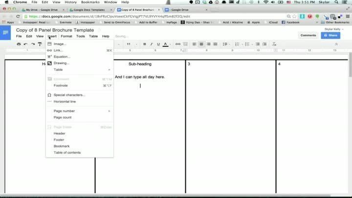 Brochure Template Google Docs | Best Template Examples