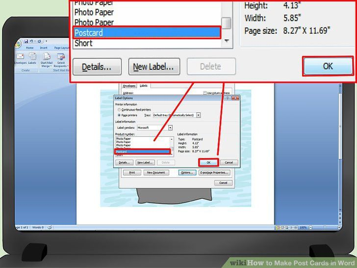 3 Ways to Make Post Cards in Word - wikiHow