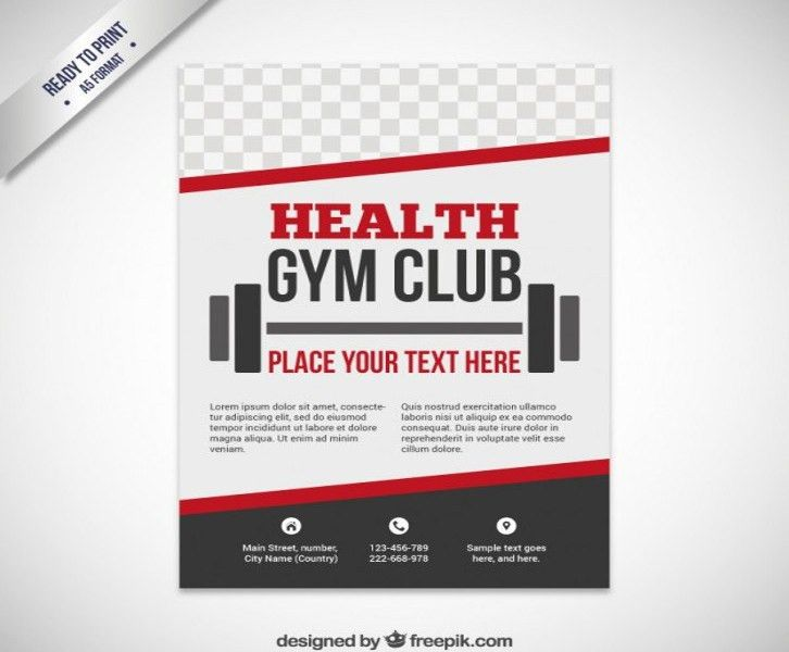 Fitness Brochure Template. Fitness Gym Trifold Brochure 20 + Tri ...