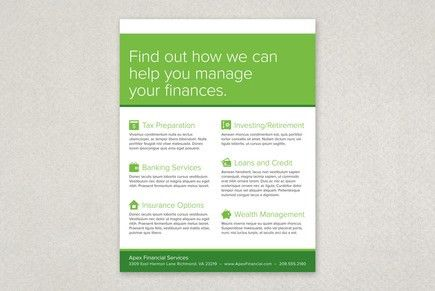 Financial Planning Services Flyer Template | Inkd