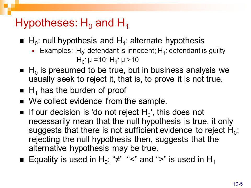 One Sample Tests of Hypothesis - ppt video online download